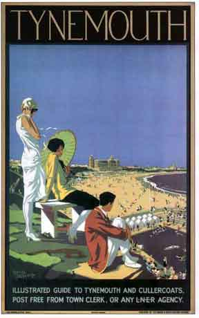 Tynemouth Poster by  Alfred Lambart. Oct. 22nd 1901 to Oct. 15th 1970