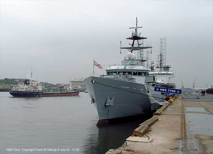Patrol vessel HMS Tyne on the River Tyne 4 July 2003